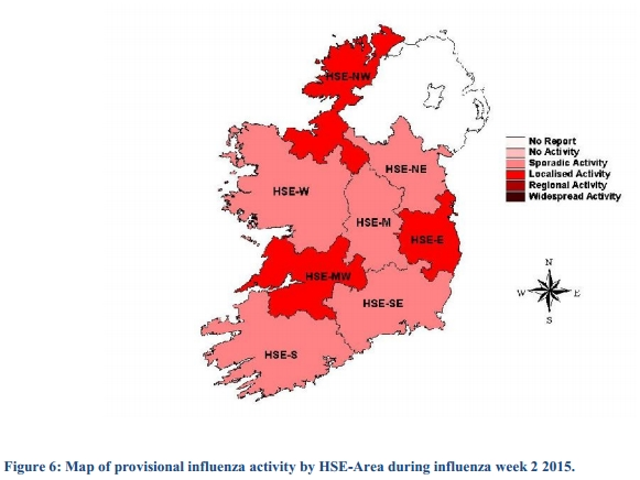 Influenza map