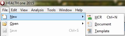 selector screen top menu-file
