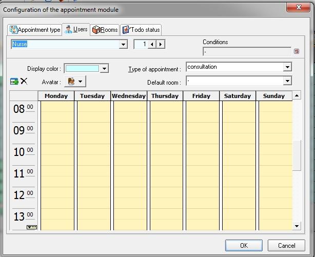 App Screen Configure appointment module