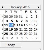 App Screen calendar