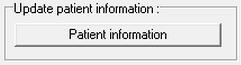 App Screen update patient info button