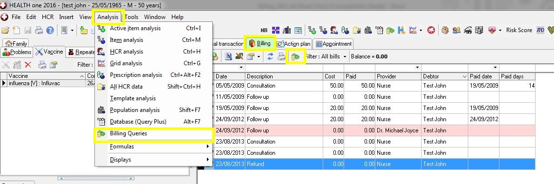 Billing Analysis