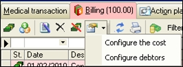 Billing Billing tab