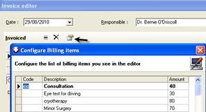 Billing Invoice Editor