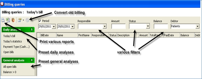 Billing analysis content