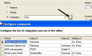 Billing invoice editor debtors